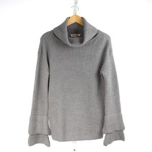 🆕 Philosophy Cowl Neck Sweater with Bell Cuff